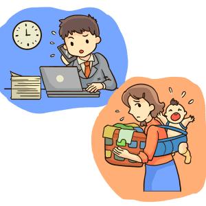 忙しい仕事と家事