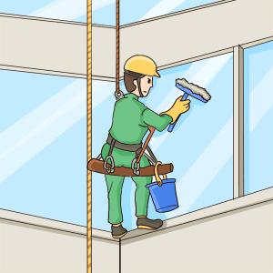 ビルの窓掃除