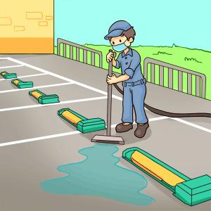 駐車場の清掃