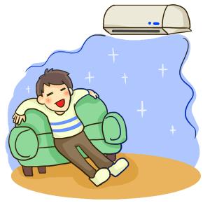 清掃済みのエアコン